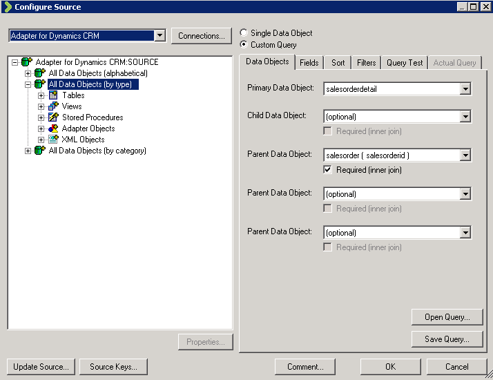 Scribe DTS Source Configuration Wizard